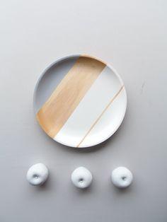 Modern Pastel Hardwood Serving Tray by nicoleporterdesign on Etsy