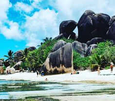 Time slows down when you reach Anse Source d'Argent. #seychelles #seashells #sea #sun #sand #paradise #relax #timestandsstill #getaway #destination #beachlife #suntan #swimsuit #swimtrunks #swim #surf #timeless #travels