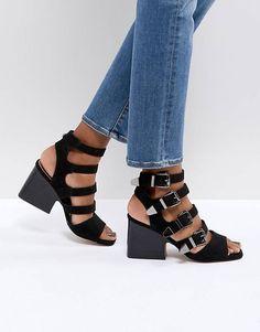 783273aef13ed ASOS TILDA Buckle Heeled Sandals Strappy Heels