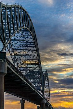 new bridge at sunset by Jeremy Sorrells, via Flickr