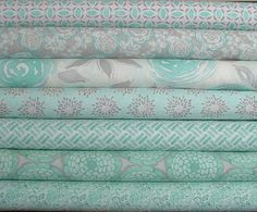 1st one - Floral path aqua 4th one down - Floral Shine aqua  Modern Roses Collection by Stephanie Ryan for Moda