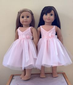 Flower girl gift -- a dress for her doll to match hers!