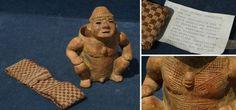 Sitzende Figur aus Peru - Präkolumbianische Kunst