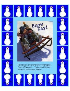 Most students look forward to Snow Days!!!  They hope it snows and snows so there is no school.  They make plans in their minds what they will do inside and outside on a snow day.  This is a perfect book for students to make text-to-self connections while paying attention to similes and interesting verbs.