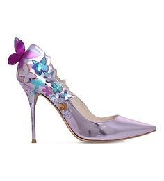 SOPHIA WEBSTER Harmony butterfly leather courts. #sophiawebster #shoes #heels