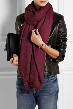 Étoile Isabel Marant | Ghazo knitted scarf | NET-A-PORTER.COM