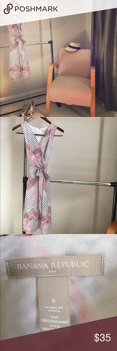 Banana Republic Spring Summer dress. Size 0. Perfect light summer dress. Only worn once! Banana Republic Dresses Midi