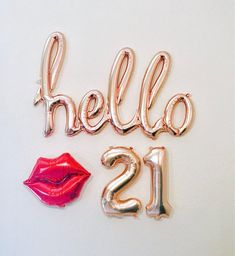 Rose Gold Hello 30 Balloon Decoration for Birthday Party 21st Bday Ideas, 21st Birthday Decorations, 25th Birthday Parties, Happy 21st Birthday, Gold Birthday, Birthday Bash, 30th Birthday Balloons, 21st Balloons, 30th Birthday Ideas For Women