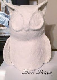 Easy DIY Paper Mache Owl Sculpture Tutorial