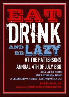 32 Best 4th Of July Party Invitations Images On Pinterest 4th Of