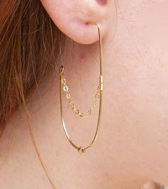 Chain Drape Earrings by violetfly