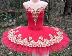 Red and gold stretch tutu. Tutus by Dani Australia