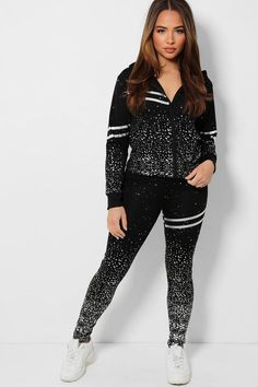 WOMEN'S 2 PCS SILVER FLECKS DOUBLE STRIPE TRACKSUIT  UNIQUE TO OUR STORE  -Makes you looks chic, stylish, vibrant -Pull On Zip closure - Classy high quality fabric, breathable, skin-friendly, comfortable to wear. -It is made of high-quality soft fabric, comfortable to wear. -Soft, breathable, flexible for all day relaxing comfort. - Lightweight, quick-drying material, perfect for spring, summer, fall and winter. Looks Chic, Daily Wear, Soft Fabrics, Swatch, Classy, Fashion Outfits, Stylish, Unique