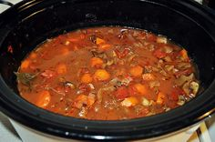 Hearty Venison Stew. I did ground Venison, and did it in my Ninja (stovetop setting) for 2 hours on low. It was AMAZING.