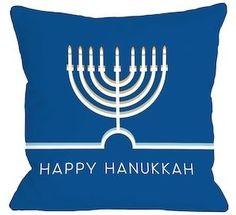 Happy Hanukkah Minimal Pillow