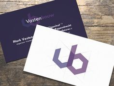 Raymond Jongerius Businesscard design and logo design for construction company Vastenbouw.