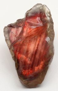 Oregon Sunstone with Schiller -- what is so fascinating about minerals is that often their composition conjures up the imagination like clouds in the sky Minerals And Gemstones, Crystals Minerals, Rocks And Minerals, Stones And Crystals, Gem Stones, Orange Crystals, Cool Rocks, Beautiful Rocks, Alberto Giacometti