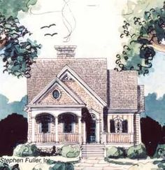 A nice design for a cottage; the website I found it on even has a floor plan for it...and since it's just a floor plan I could build it anywhere I want!