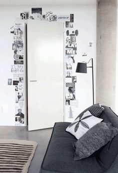 moodboard around a door