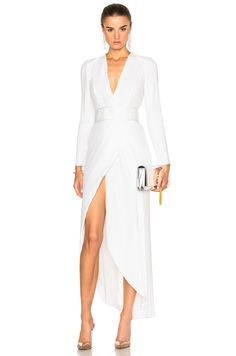 Image 1 of GALVAN Pleated Dress in White