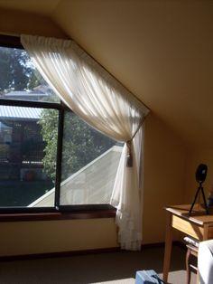 The Fabric Bazaar, odd shape window curtain