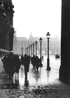 FRED STEIN    Cour du Louvre, Paris 1937  Monochromatic  Black and white  Photography