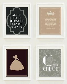 Nursery Prints: Gatsby - Girls Room - Home Decor- The Great Gatsby- Quote - Digital