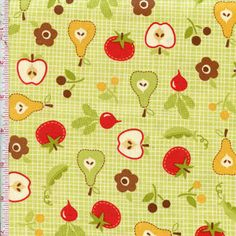Farm Fresh By Riley Blake Fabrics Color: Honey Dew   Ref # rileyblake9002green $8.99    yd.