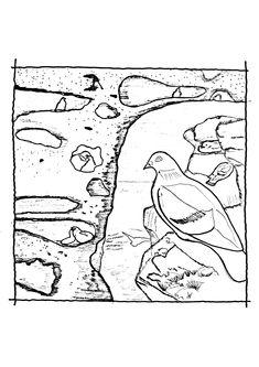 Native Triptych, Submissive, Nativity, Coastal, Kids Rugs, Illustration, Sea, Fictional Characters, Tri Fold Brochure