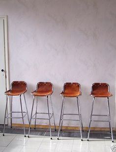 Charlotte Perriand Barstools Les Arc France 1960s