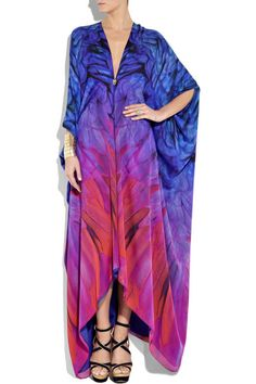 Silk Kaftans for Women | roberto cavalli printed silk georgette kaftan