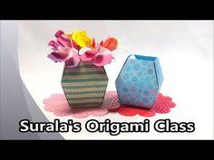 종이접기 - 꽃병 (바구니, 그릇) - YouTube