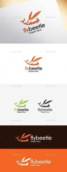 Fly Beetle Logo Template  #unique #vector #web • Available here → http://graphicriver.net/item/fly-beetle-logo-template/15596262?ref=pxcr