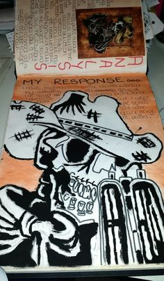 Student RL #culture #dayofthedead #recording #artistresponse #skull #sketchbook