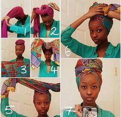 7 Step How to Badu Headwrap