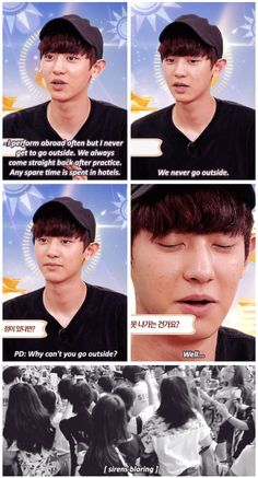 Chanyeol explaining why EXO has to be careful going out//poor baby shouldn't have to deal with that....