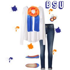 """Boise State"" by amberriley on Polyvore #BoiseState #BSU"