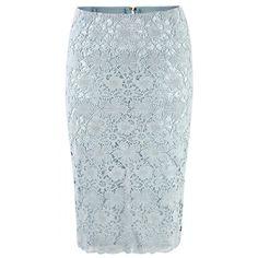 Doris Megger - Ice Blue Lace Skirt