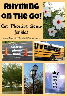 Rhyming on the Go - a car phonics game that is fun, easy, requires no materials or set-up and that you can do with 5 spare minutes as you drive to your destination.