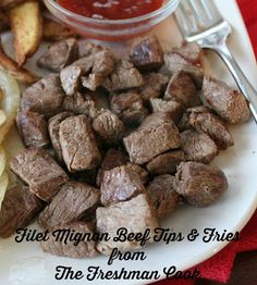 The Freshman Cook: BBQ Filet Beef Tips / #SundaySupper