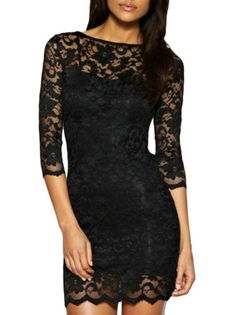 Be My Love Lace Bodycon Dress - The Perfect Black Dress.  This would be so sexy with black boots www.thechicfind.com
