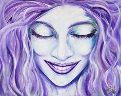 La sonrisa | The smile Acrílico sobre lienzo | Acrylic on canvas by Pili Tejedo 81 x 66 cm