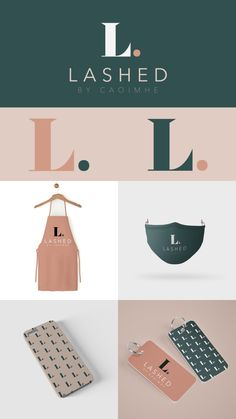 Branded print design for Lashed Brand Identity, Branding, Print Design, Graphic Design, Instagram Handle, Describe Yourself, Beauty Bar, Business Names, Brand Packaging