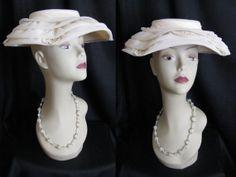 Vintage 1950s Hat  MODERN MISS Chiffon & Lace by jwvintagecloset, $44.00