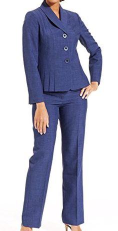 Le Suit Women's Cozumel Pleated Pant Suit (6, Sapphire) Le Suit http://www.amazon.com/dp/B00U179JJ0/ref=cm_sw_r_pi_dp_OXx8vb0GZ2BF7