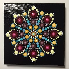 Reserved for Lisa, Hand Painted Mandala on Canvas, #329 by MafaStones on Etsy