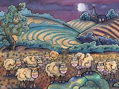 Curious sheep English Artists, My Animal, Animal Paintings, Sheep, Welsh, Fun, Animals, Fictional Characters, Animales
