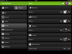 Smart Home simplicity- this is the user interface for our Loxone app