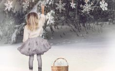 Photoshop Composite: Hanging Snow