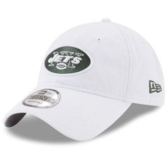 Men s New Era White New York Jets Team Sharpen 9TWENTY Adjustable Hat b43b365c4